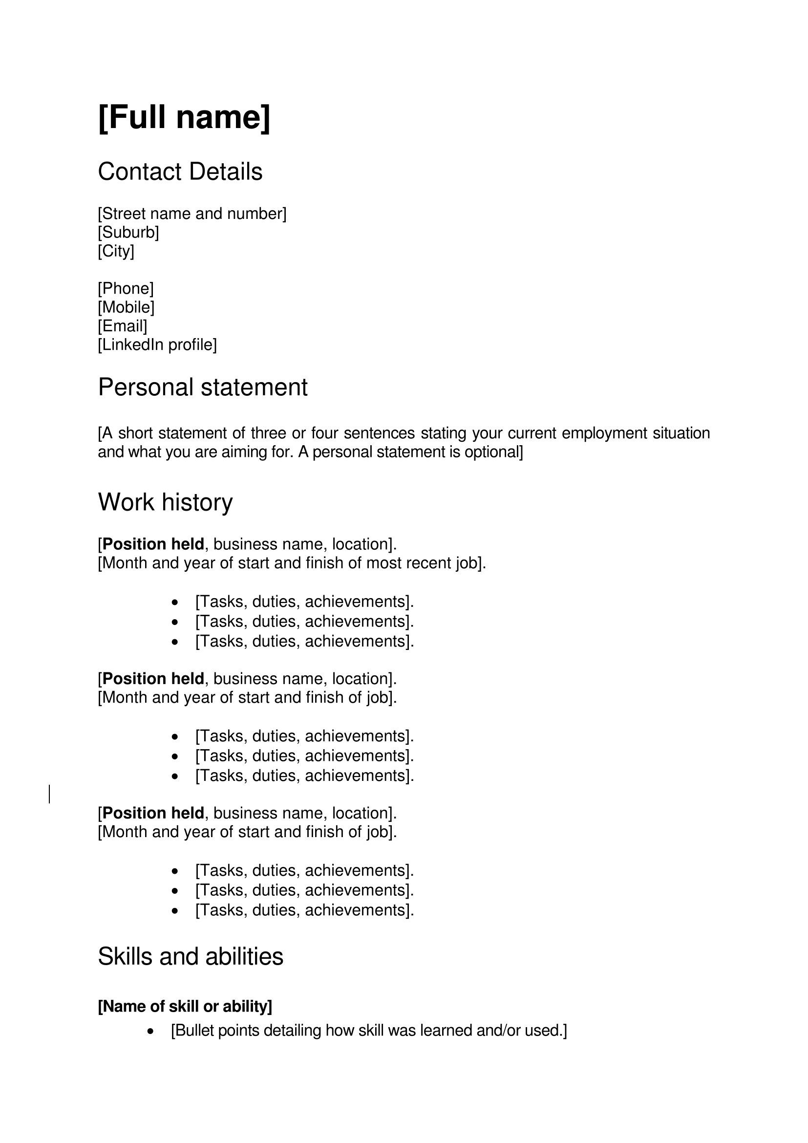 Resume Vs Cv Template Curriculum Vitae Sample Psychology Graduate