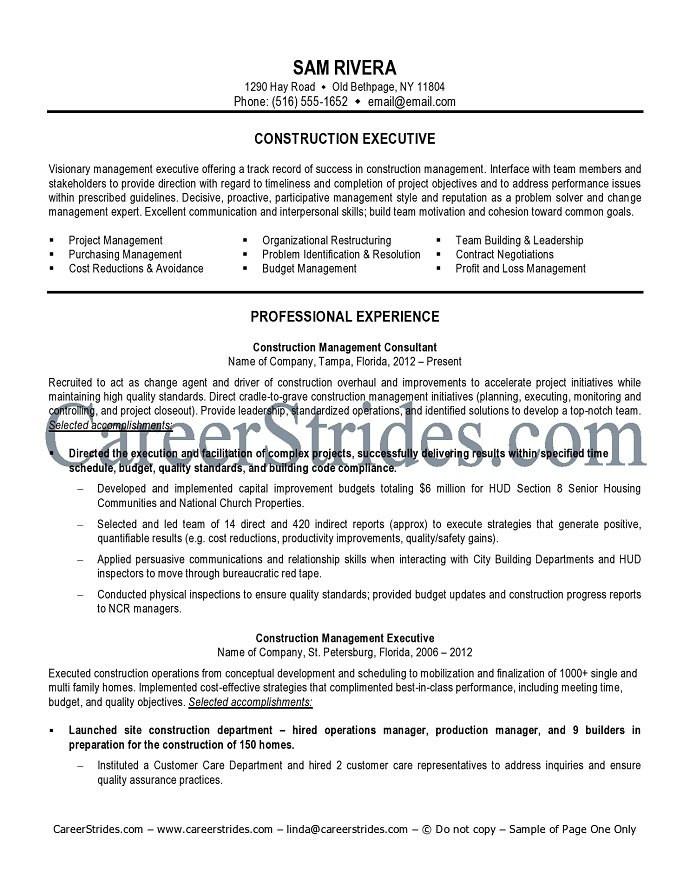 construction worker resume examples and samples construction