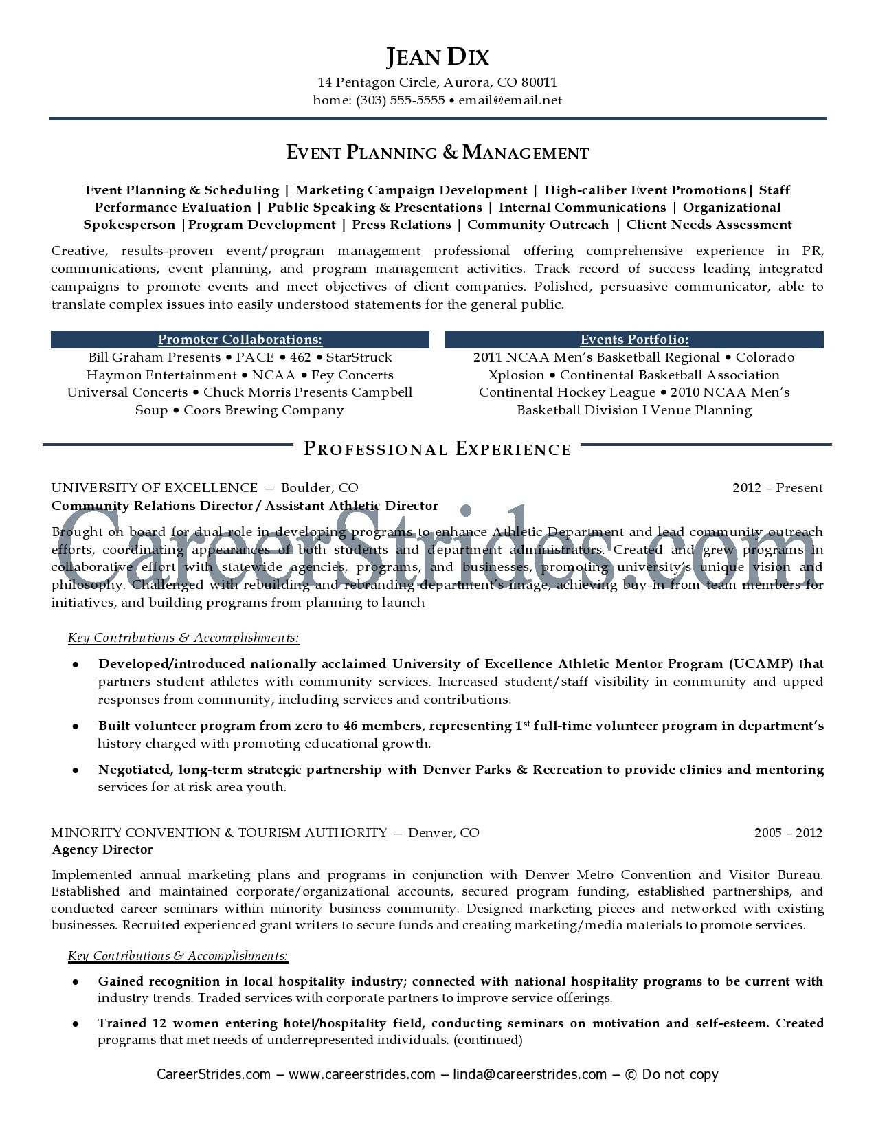Event Planner Resumes Examples event planner resume samples – Event Planner Resume Objective
