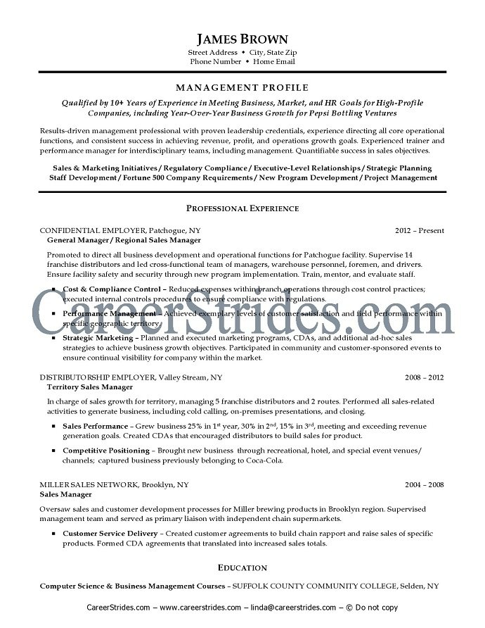 general manager resume template general manager resumes template