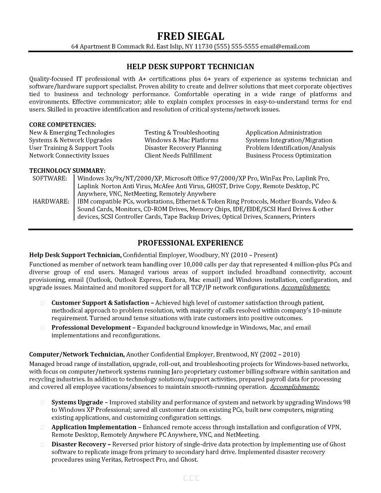 sample resume for it support analyst resume sample 9 senior