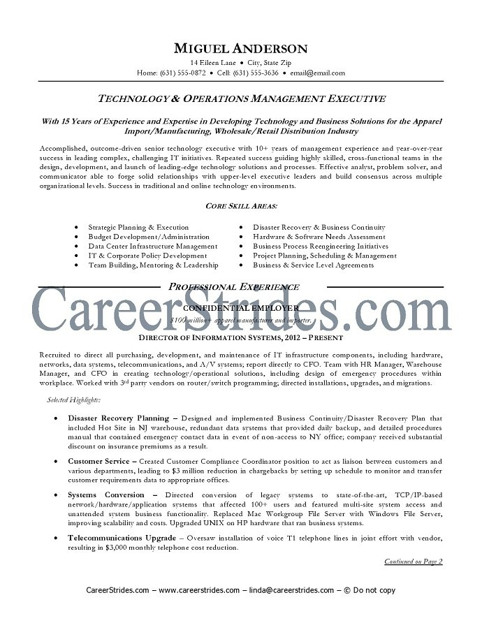 information technology manager skills resume 28 images