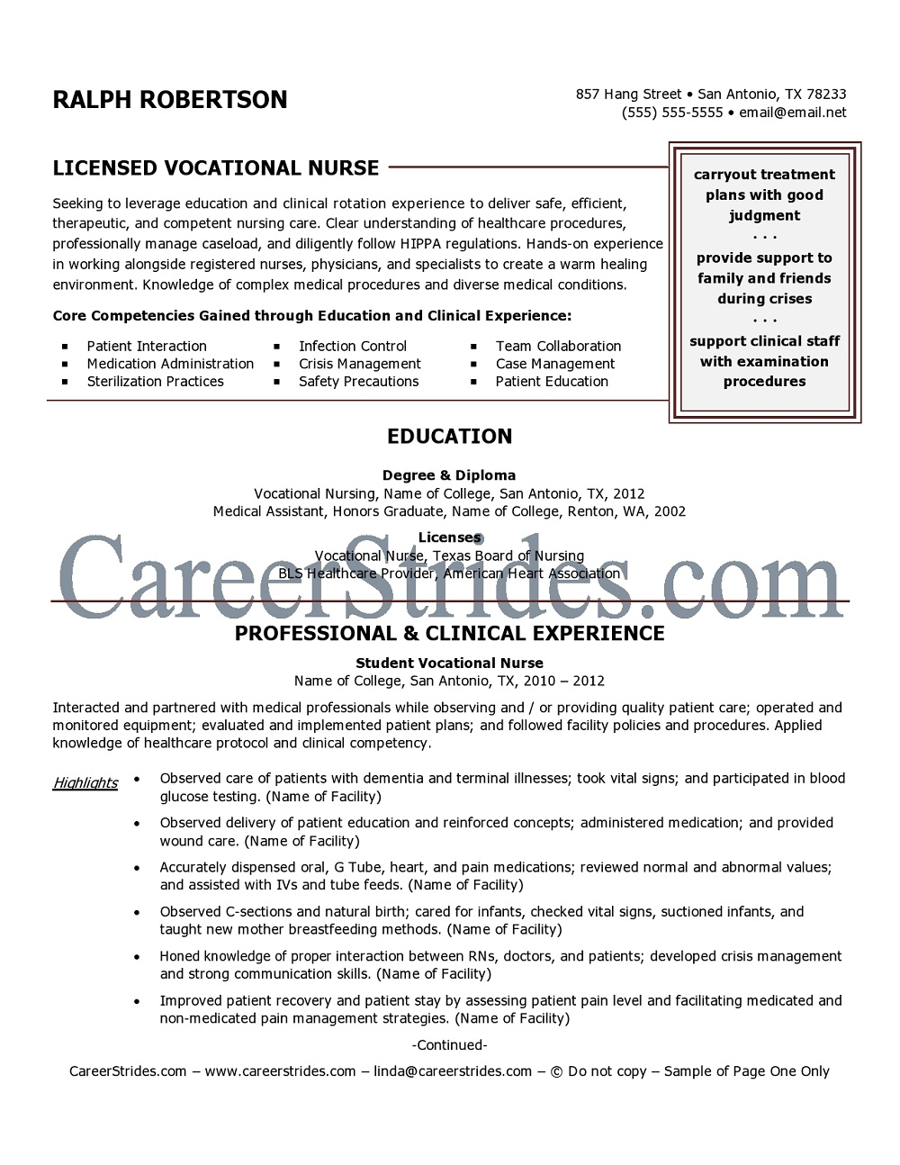 New Lvn Resume Template. nursing resume templates free resume ...
