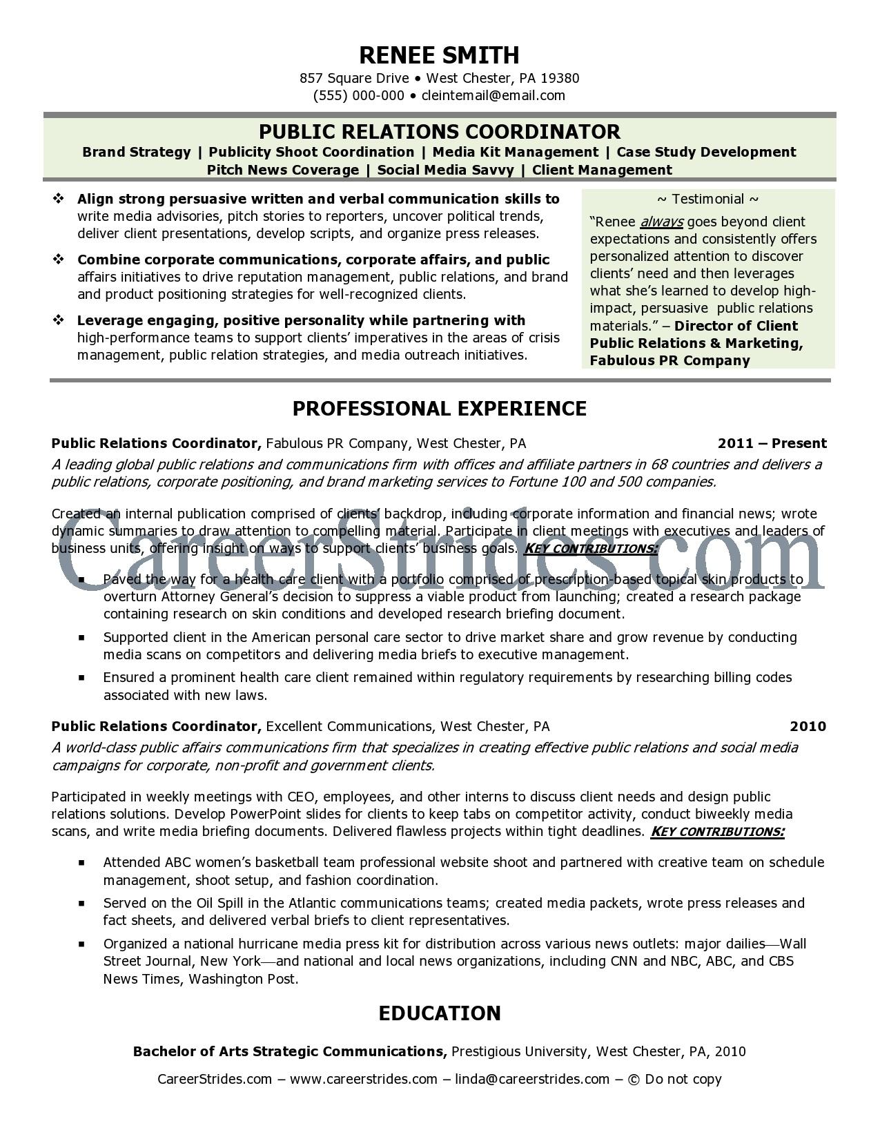 public relations specialist resume samples singlepageresume com jpg pr resume template