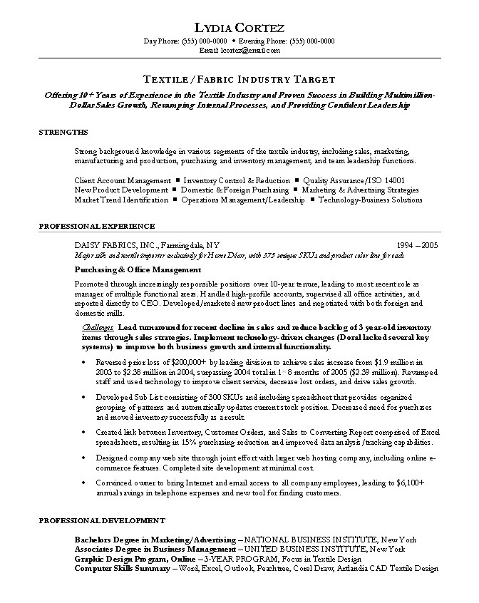 purchasing manager resume by nationally certified resume writer