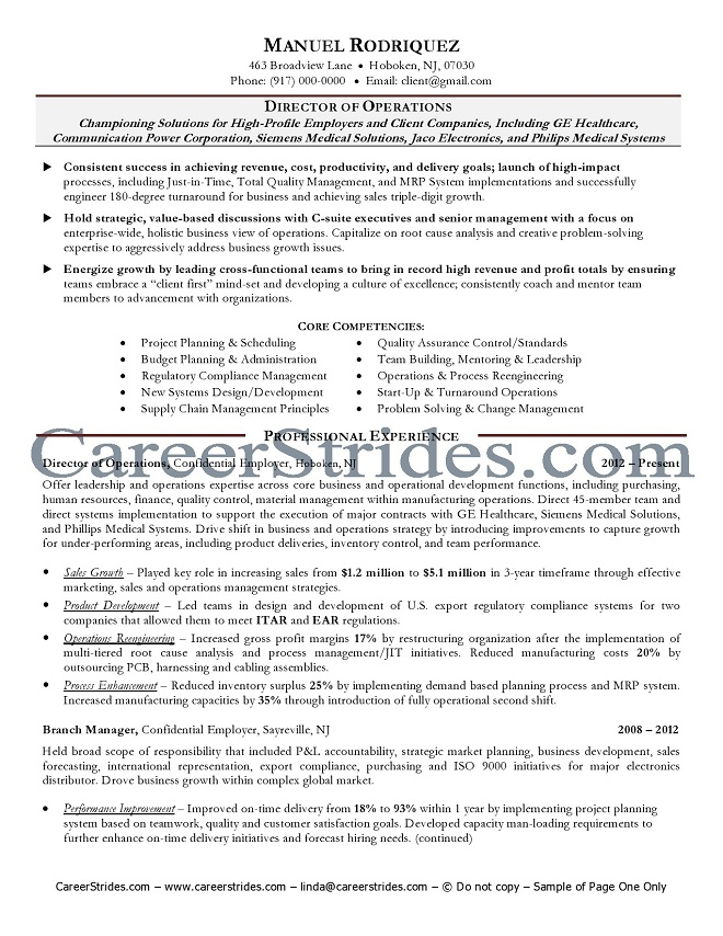 Senior Executive Resumes Examples. Resume Examples For Executives