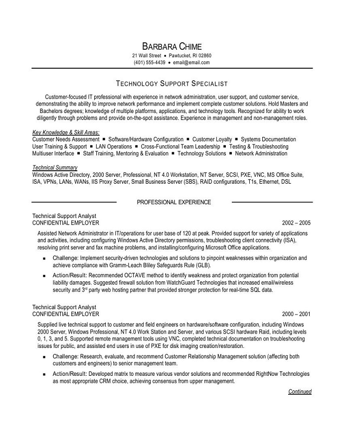 Special needs caregiver resume