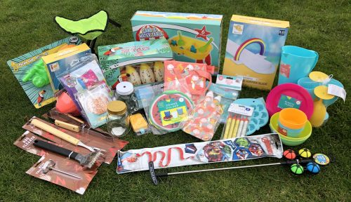 Selection of items for sale as part of the summer goodie box