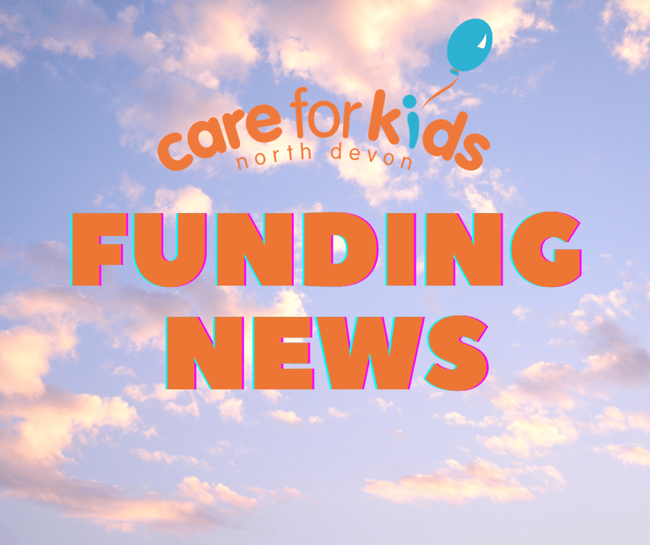 """Blue skies with Care for Kids logo and """"Funding News'"""
