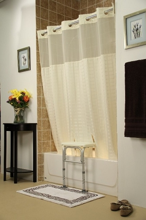 Bench Buddy Hookless Shower Curtain Whitaker Transfer
