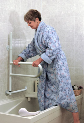 Grab Bars For The Bath Tub And Shower