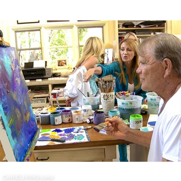 Jane Seymour and Glen Campbell painting
