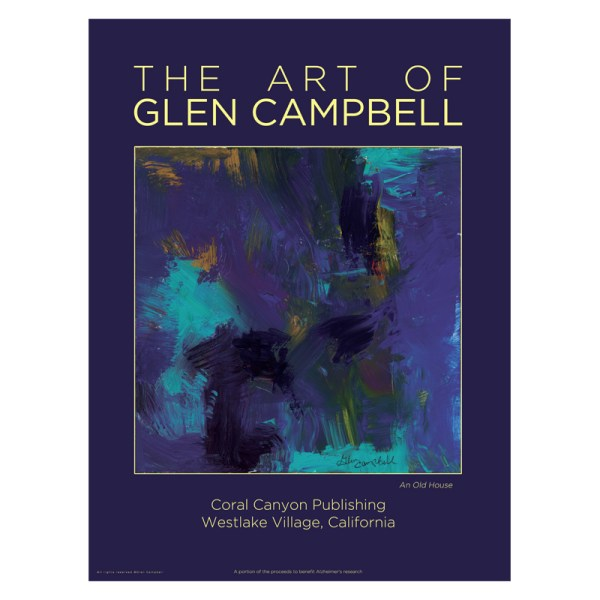 An Old House - poster of original artwork by Glen Campbell