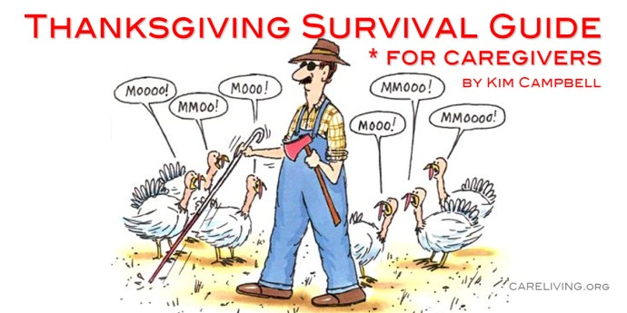Thanksgiving Survival Guide for Caregivers by Kim Campbell for CareLiving.org