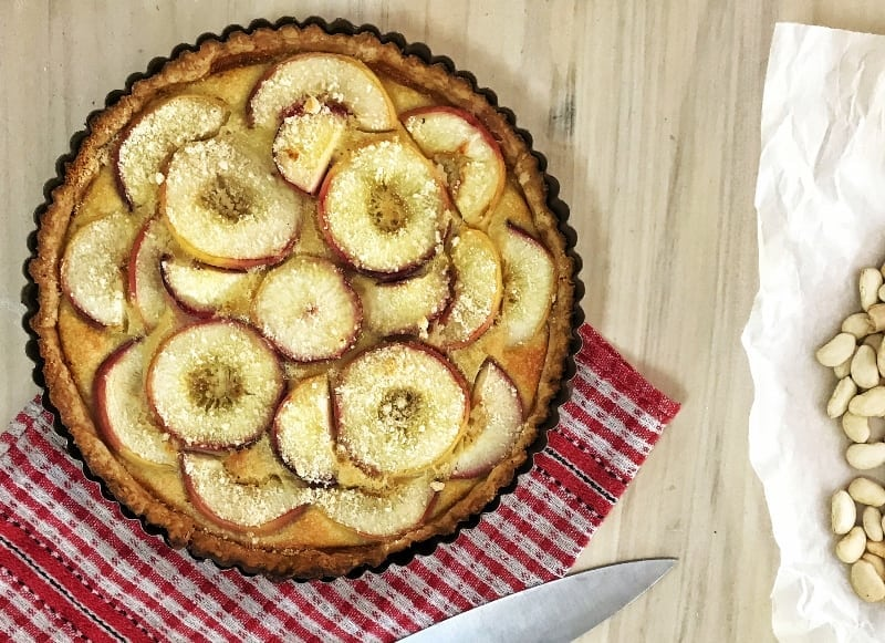 Tarte aux Peches with Spelt Butter Puff Pastry
