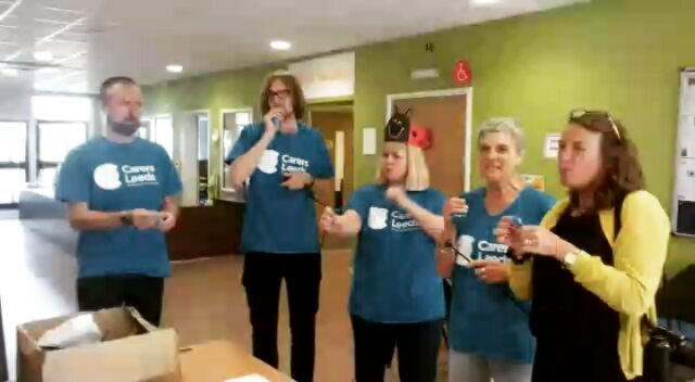 The Carers Leeds team put the fun in family fun day with a bit of friendly competition