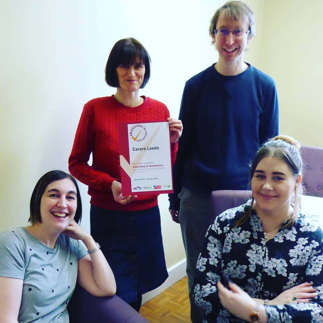 We've achieved the investing in volunteers award for another 3 years! Whoop! 🎉😁
