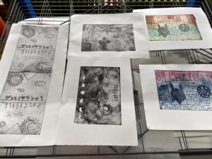 Young Carers Print Making at Spike Island Studios
