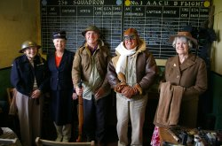 Ty Croes OAPs dress up in authentic WWII uniforms.