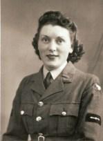 Edna Ganfield during World War II