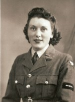 Edna Ganfield during World War II