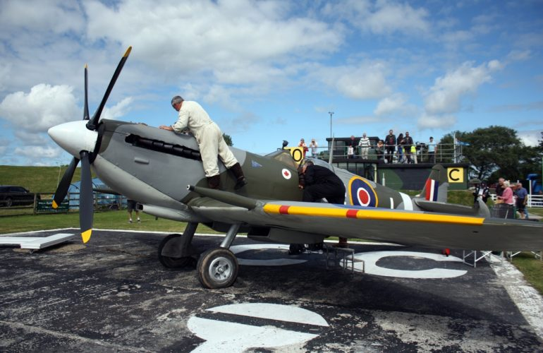 Prepping the Spitfire at Wings Over Carew