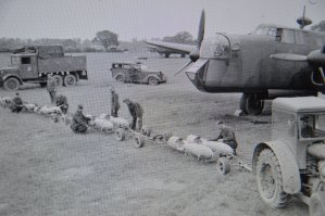 Bombs delivered to aircraft