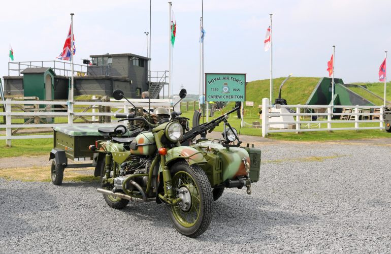 Vintage Military Vehicles at Carew Cheriton Control Tower