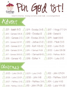Advent Christmas 2013 Pin God 1st Plan