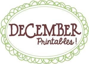 December Printables Slider