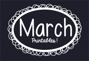 March Printables Slider