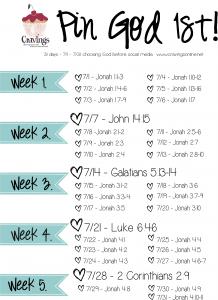 July Pin God 1st Bible Ready Plan