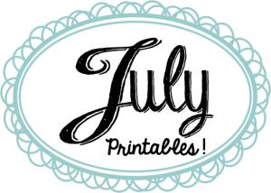 July Printables Slider