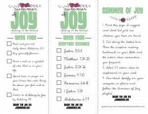 Summer of Joy Week 4