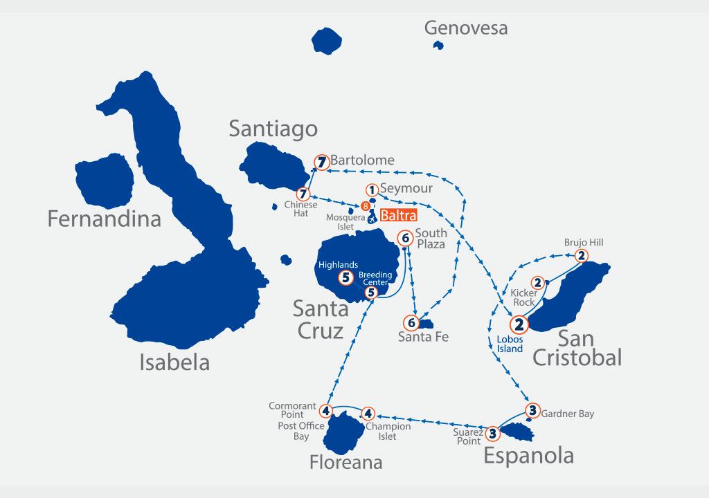 itinerario galappagos