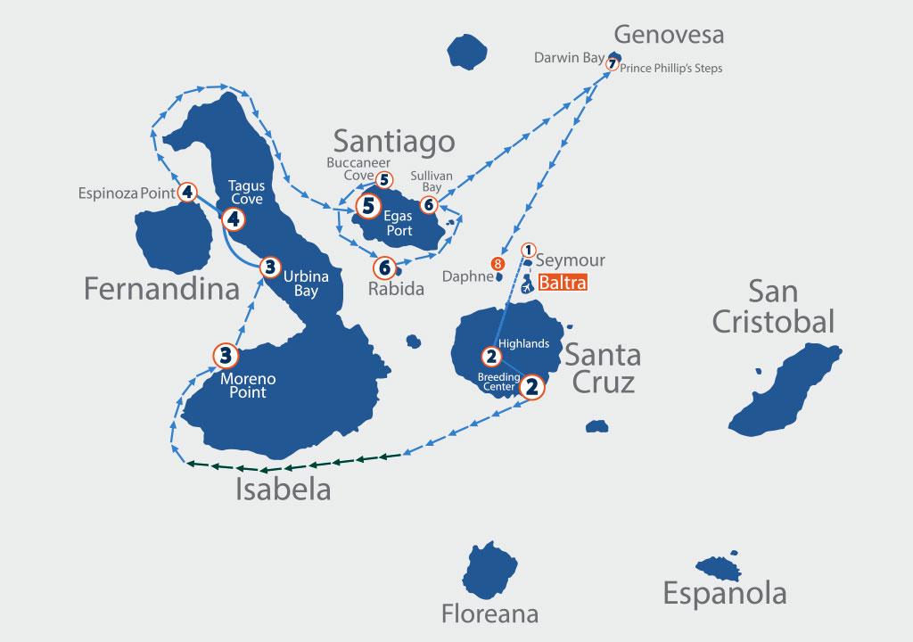 Itinerario Galapagos