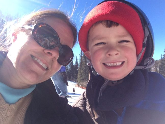 Snow Selfie. Ski School is a fun and easy way to get the kids loving the sport.
