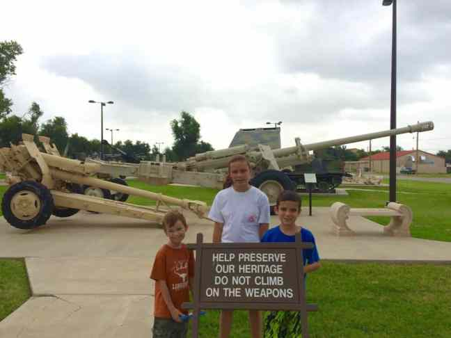 Explore Fort Sill in Lawton with kids, especially for the Howitzers.