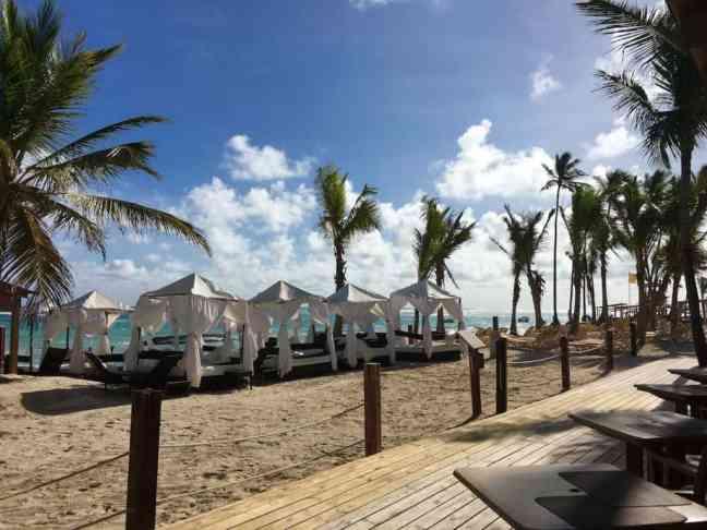 Enjoy a privilege beach view and cabana.