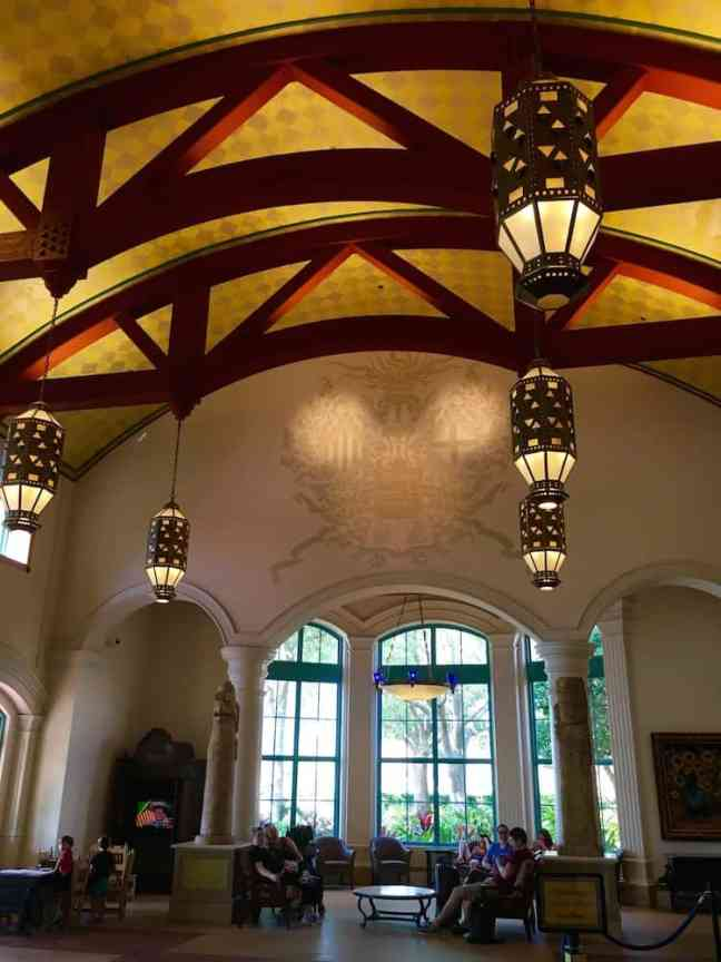 Enjoy the lobby while staying at the Coronado Springs Resort.
