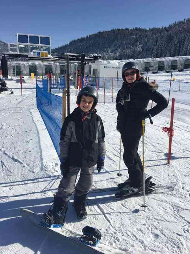Family Skiing at Squaw Valley where to take kids skiing in Lake Tahoe