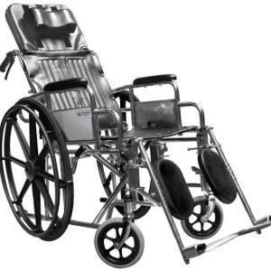 Silla de ruedas reclinable para PCA, con elevapiernas