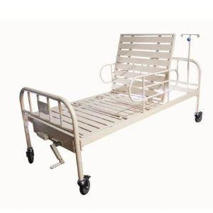 Cama hospitalaria manual con ruedas
