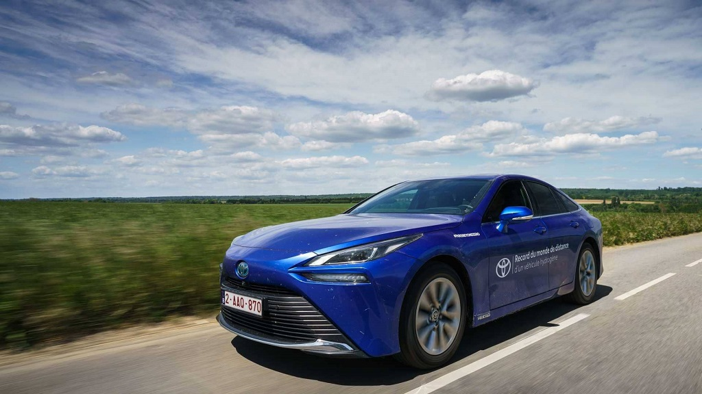 A Toyota Car Set a Record for Distance Traveled on One Fill-up