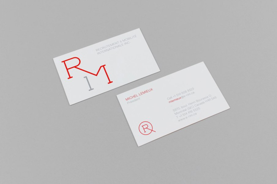 Business cards to go along with the handouts.