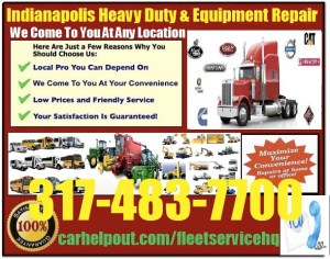 Indianapolis heavy duty semi truck and equipment repair service
