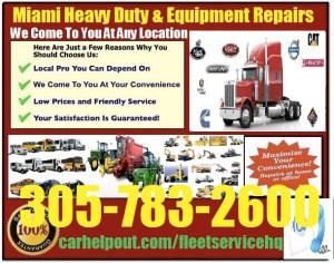 Miami heavy duty semi truck and equipment repair service