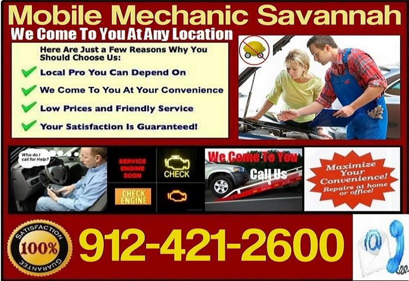 Mobile Mechanic Savannah, GA Pre Purchase Auto Car