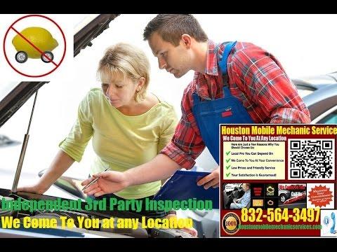Mobile Mechanic Houston TX Pre Purchase Auto Car Inspection Service