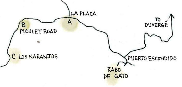 Rabo de Gato (Map by Dana Gardner)